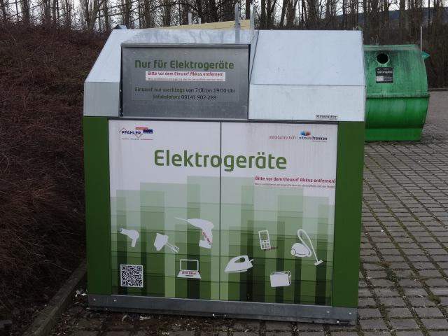 Container für Elektrogeräte - Elektroschrott-Container © Paul Bock