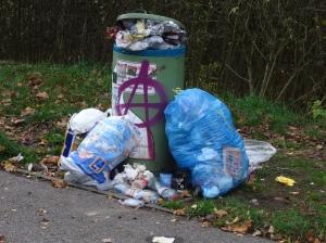 Plastikmüll und Restmüll am Wegesrand © oekobeobachter