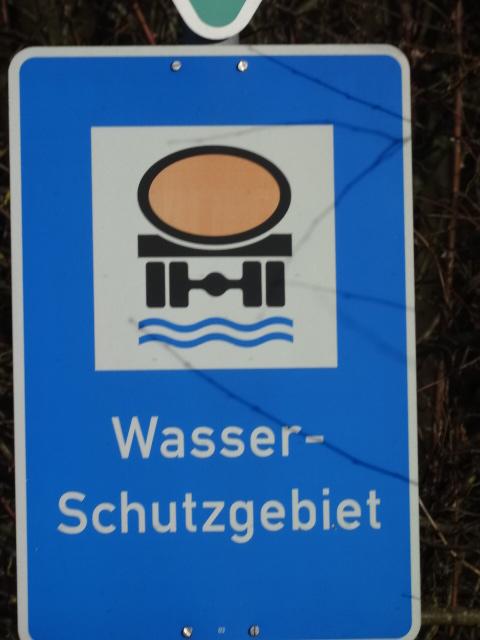 Warnschild Wasserschutzgebiet © Paul Bock